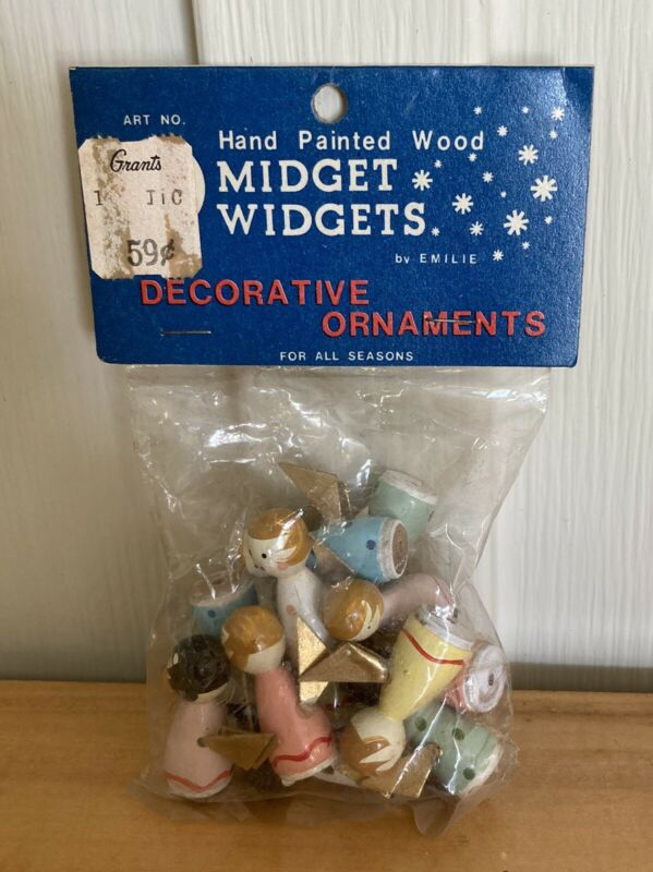 Vintage NOS Angel Midget Widgets Miniature Christmas Decorative Ornaments