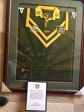 Signed Jersey Anzac Text ARL 2007 professionally framed Duns Creek Port Stephens Area Preview