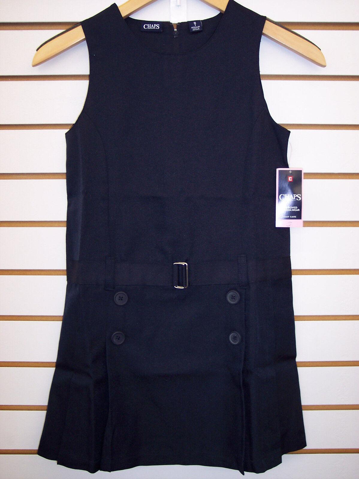 Girls $28.00 Chaps Navy or Khaki Uniform Jumper Dress Size 7