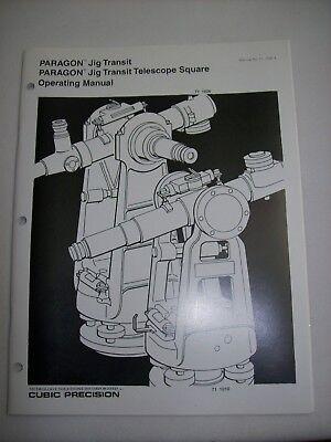 Brunson Ke Cubic Precision 71-1010 1026 Paragon Jig Transit Operating Manual