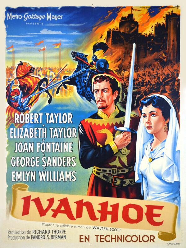 IVANHOE - ORIGINAL FRENCH POSTER