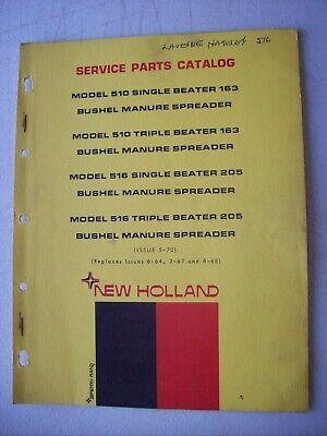 Original New Holland 510 516 Bushel Manure Spreader Parts Catalog Manual