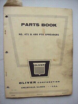 Original Oliver 471 480 Pto Spreaders Parts Book Manual 1963