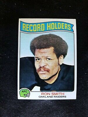 1975 TOPPS FOOTBALL CARD #356 RECORD HOLDERS  RON SMITH OAKLAND  RAIDERS   -