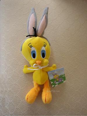 Tweety Bird Bunny Ears Easter Basket Bean Bag Warner Bros Looney Tunes  Plush