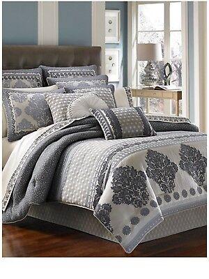 Camelot Queen Bed - J. Queen New York  Camelot Indigo Euro European Pillow Sham : 26