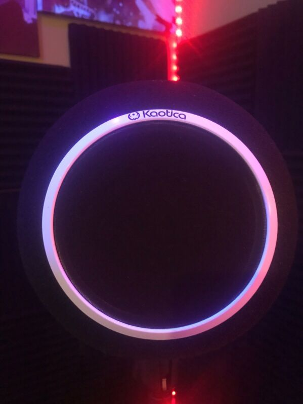 Custom Kaotica Eye Ball Mic Shield / Built In Color Changing Led Light (BLACK)