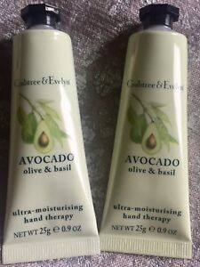 2 NEW CRABTREE EVELYN AVOCADO ULTRA MOISTURIZING HAND THERAPY LOTION