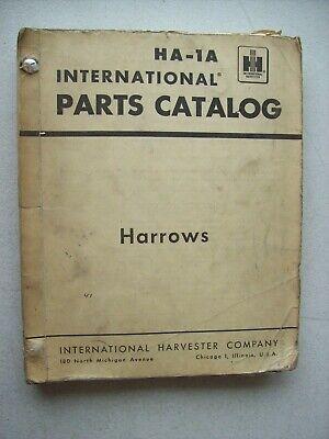 Original International Harrows 7 8 46 48 50 401 Parts Catalog Manual Ha-1a