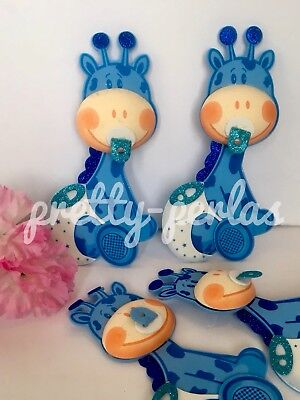 "10-Big 8""Baby Shower Table Decoration Safari Foam Giraffe Favors Centerpiece - Blue Safari Baby Shower Decorations"