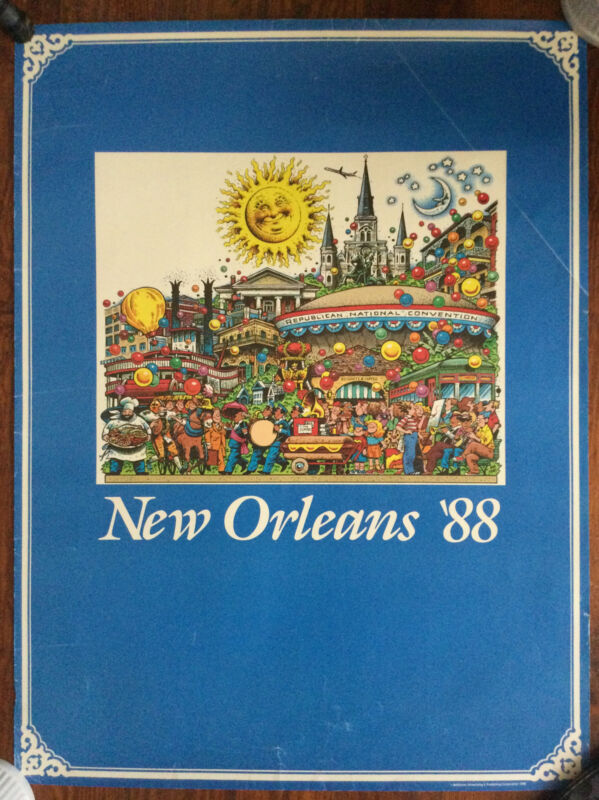 Vintage collectible New Orleans 1988 Republican National Convention poster
