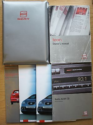 SEAT LEON HANDBOOK OWNERS MANUAL WALLET 1999–2006 PACK 6927