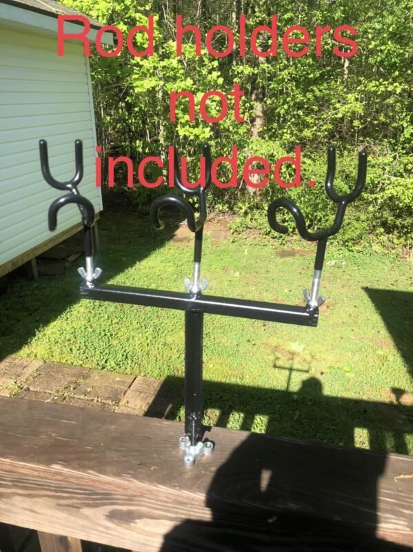 Crappie Spider Rig Rod Holder Setup T-bar And Base Only. Free Shipping.