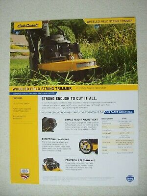 Original Cub Cadet Wheeled Field String Trimmer Edger Trencher Brochure Flyer
