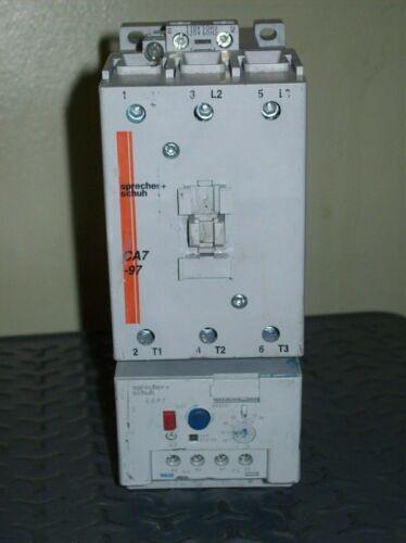 Sprecher + Schuh CA7-PA CA7-97-00-120 Contactor + CEP7-EEGE Overload Relay
