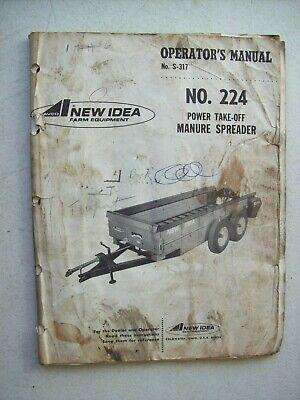 Original New Idea 224 Manure Spreader Operators Parts Manual