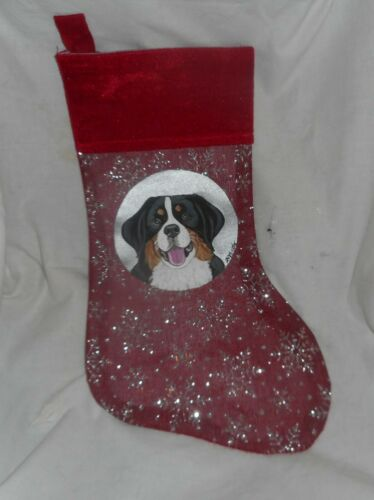 Bernese Mountain Dog Dog Hand Painted Christmas Gift Stocking Decoration