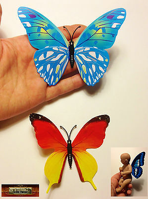 M00079-A10 MOREZMORE 2 Mini Fairy Magnet Butterfly Wings for OOAK Doll Baby A60
