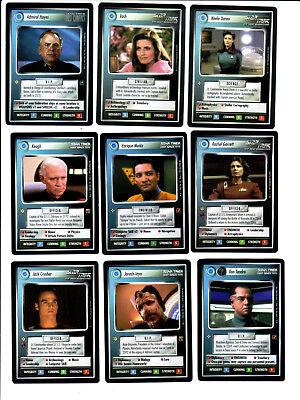 9 Star Trek CCG TCG RARE Föderation Karten Trading cards BB Personal