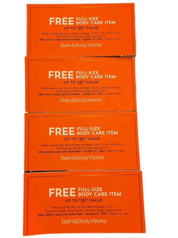 BATH & BODY WORKS COUPONS - ONLINE/STORE PICK UP - EXPIRES OCTOBER 31, 2021
