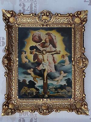 Cuadro Jesús María Iconos Cuadro Santos con Marco 56x46 CM Religioso Imágenes...