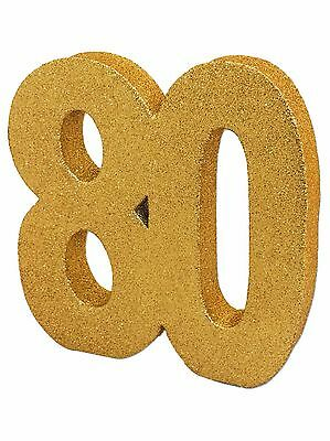 Gold Glitter 80th Birthday/Anniversary Celebration Centrepiece Table Decoration](80th Birthday Centerpieces Decorations)
