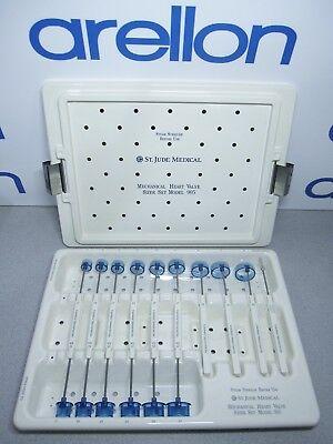 St. Jude Medical Model 905 Mechanical Heart Valve Sizer Set Standard Sa Rings