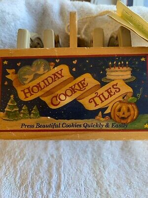 Brown Bag Holiday Cookie Tiles Stamp Mold Valentine Christmas Halloween Birthday