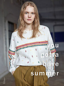 ZARA-ECRU-PRINTED-SWEATSHIRT-WITH-SLEEVE-APPLIQUE-SS15-SIZES-M-amp-L-LAST-SIZES
