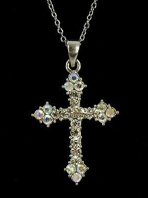 Retro Rhinestone Cross Chain Bracelet