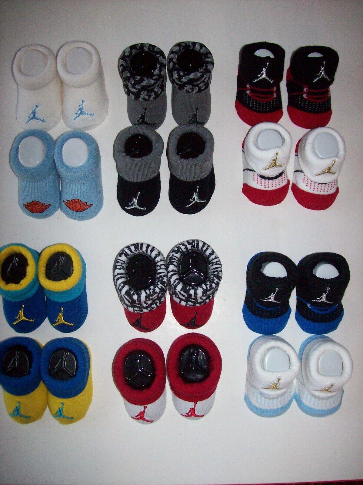 Jordan Jumpman Crib Shoes Socks Booties Infant 0-6 3-6 Mos Assorted
