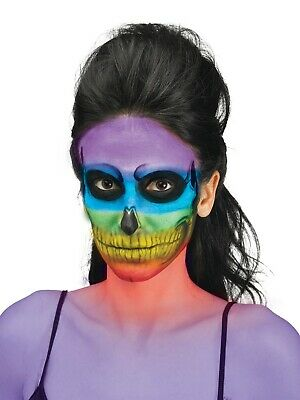 Skeleton Halloween Makeup (Halloween, Cosplay Color Bones Rainbow Skeleton Stage Makeup Kit - Palette)