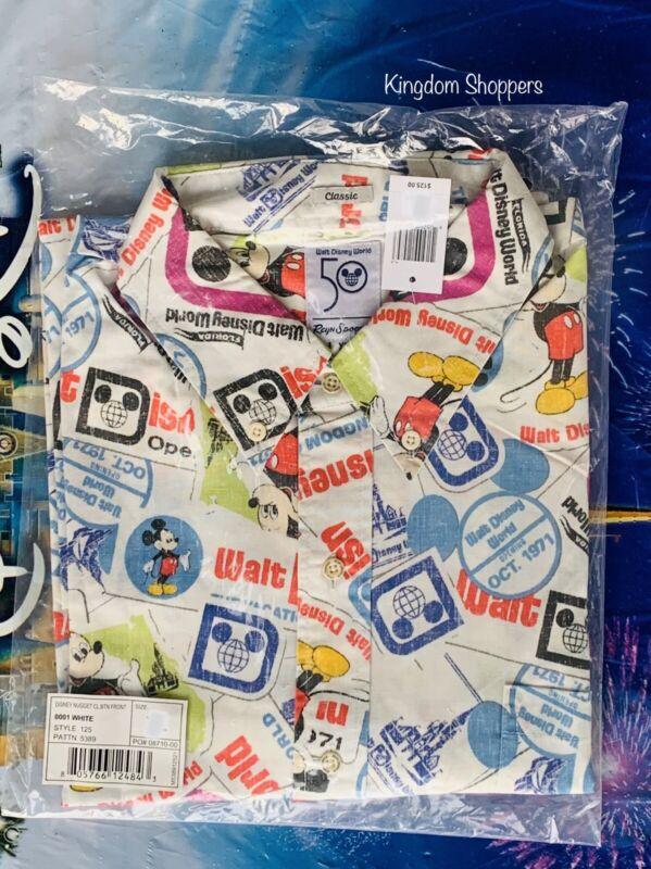 2021 Walt Disney World 50th Anniversary Reyn Spooner Passholder Camp Shirt XXXL
