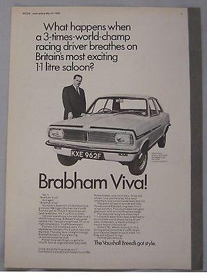 1968 Brabham Vauxhall Viva Original advert
