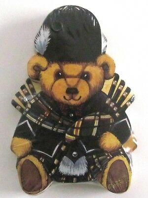 HARRODS Knightsbride Teddy Bear Die-Cut Note Pad TARTAN Bagpipes Scotland 3 Pads