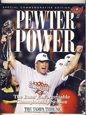 Pewter Power  The Bucs Unforgetable Championship Season Comm  Ed  Magazine 2002