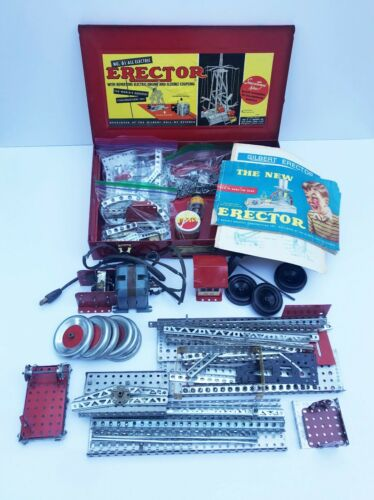 Vintage A.C. Gilbert Erector Set #6 1/2 Lot w/Case – All Original with Paperwork