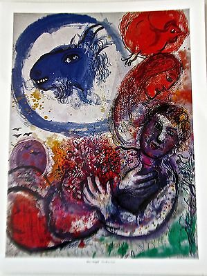 Marc Chagall Poster THE BLUE GOAT 14X11  Blue Goat in Dream Offset Lithograph
