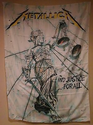 Metallica And Justice For All Cloth Fabric Poster Wall Flag Tapestry Banner-New!