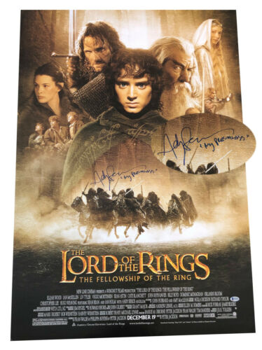 ANDY SERKIS SIGNED AUTO LORD OF THE RINGS FS MOVIE POSTER BECKETT BAS COA 1