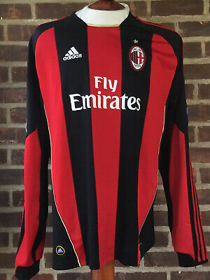 Adidas AC MILAN #99 Antonio Cassano Long Sleeve Jersey Size Large