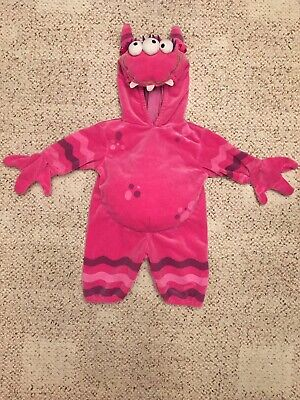 Baby Costume 0-3 Months (Miniwear Magenta Pink Monster Halloween Costume-Baby Infant Girl Size 0-3)