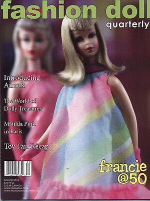 Fashion Doll Quarterly FDQ Summer 2016 Anouk, Doll Treasures Matilda Pink Franci