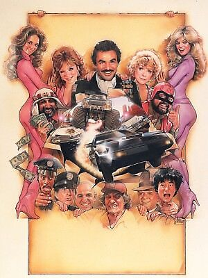 """THE CANNONBALL RUN 16"""" x 12"""" Photo Repro Textless Poster"""