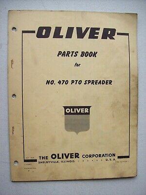 Original Oliver No 470 Pto Spreader Parts Book Manual 1959