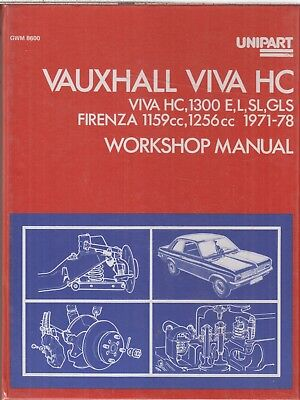 VAUXHALL VIVA HC & FIRENZA 1.2 & 1.3 (1971-78) UNIPART OWNERS WORKSHOP MANUAL