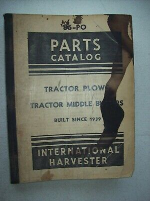 Original International Tractor Plows Middle Busters Parts Catalog Manual 85-po