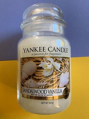 SANDALWOOD VANILLA YANKEE CANDLE CANDELA GIARA GRANDE