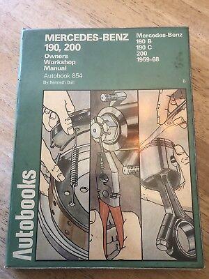 Auto books Repair Manual Mercedes Benz 190 200 1959-1968