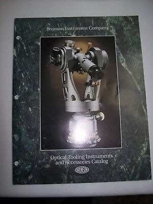Brunson Optical Tooling Instruments And Accessories Catalog 1994